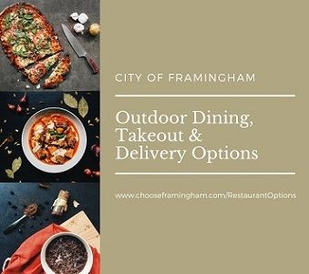 Outdoor dining, takeout and delivery small